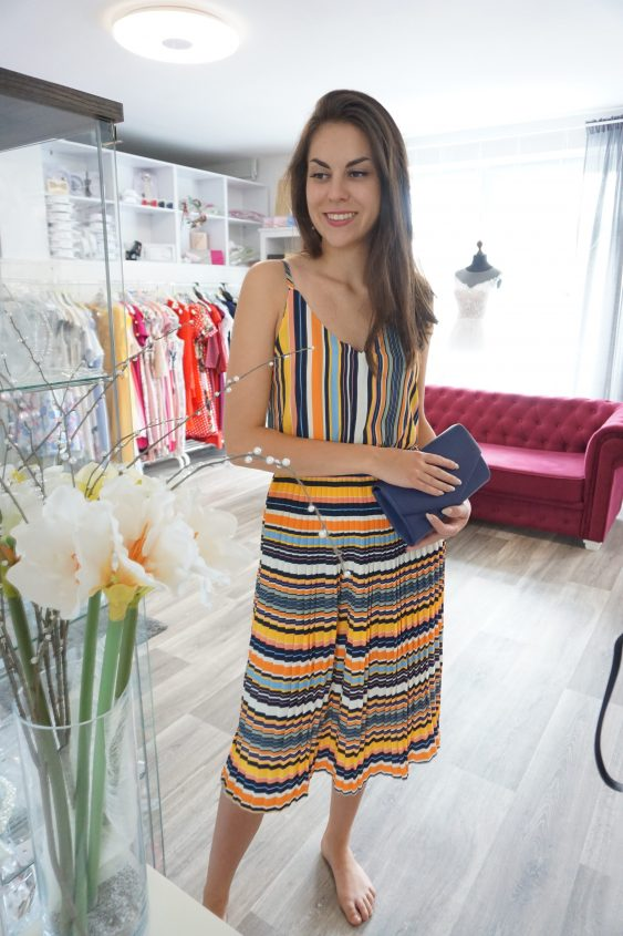 Letní šaty,guma v pase vel.34-40